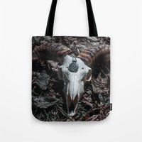 goat Tote Bags featuring Goat by Sarah Van Neyghem