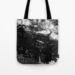 Reflecting Pond (Black & White) Tote Bag