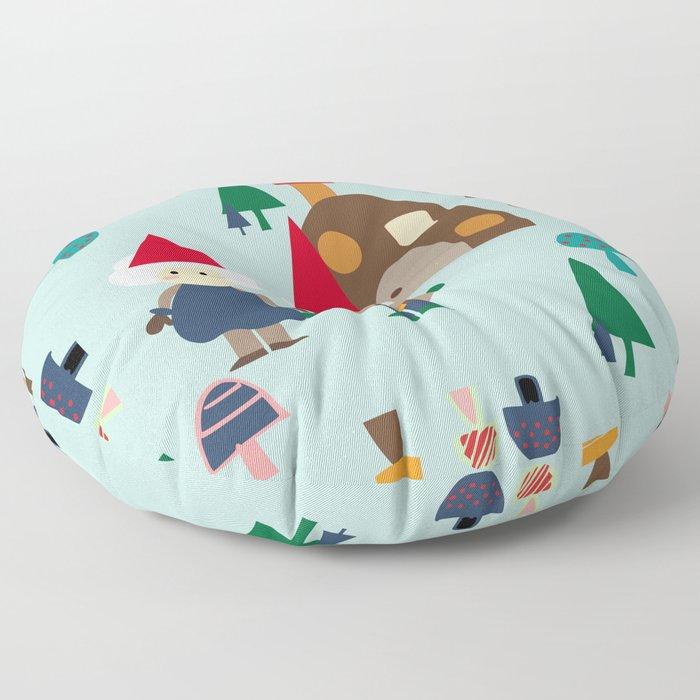 gnome blue Floor Pillow