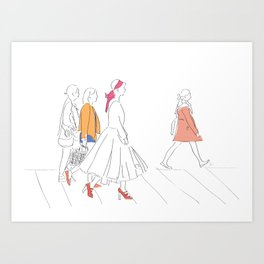 Parisian French Fashion Girls Art Print