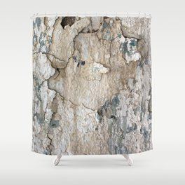 White Decay IV Shower Curtain