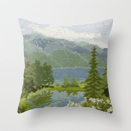 Found Tapestry Throw Pillow