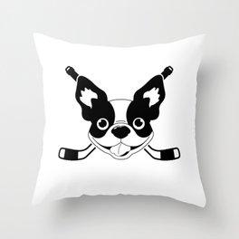 Boston Terriers Hockey Throw Pillow