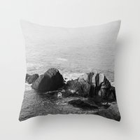 wooden Throw Pillows featuring Wooden by North to South
