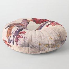 Kissing Cardinals Floor Pillow