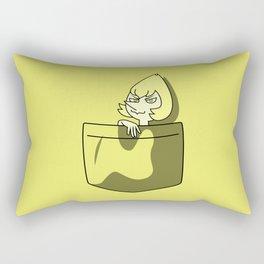 Yellow Pearl Pocket Tee Rectangular Pillow