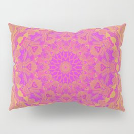 Pink, Orange, and Yellow Kaleidoscope 4 Pillow Sham