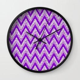 Purple Zigzag Wall Clock