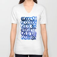 breaking V-neck T-shirts featuring Breaking the waves by Picomodi