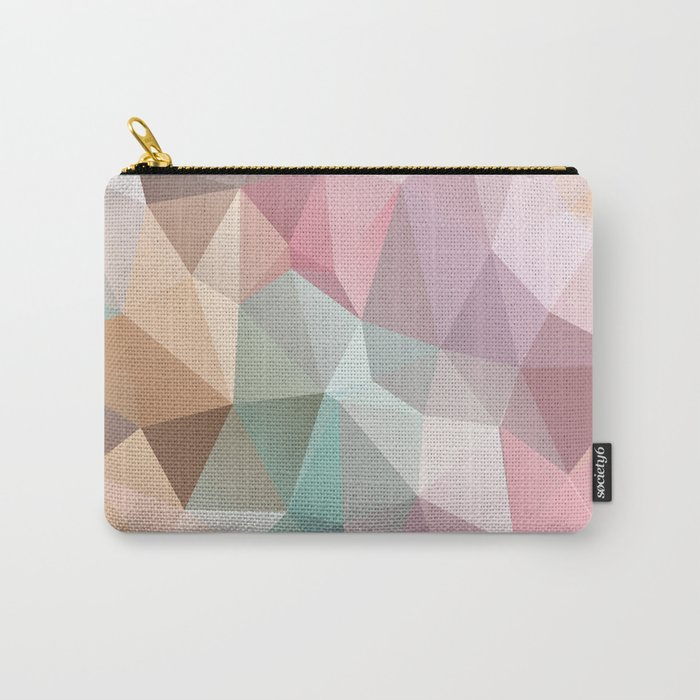 Abstract triangles polygonal pattern Carry-All Pouch