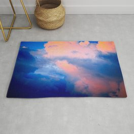 Heavy Cumulus Clouds At Sunset Rug