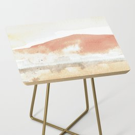 Terra Cotta Hills Abstract Landsape Side Table