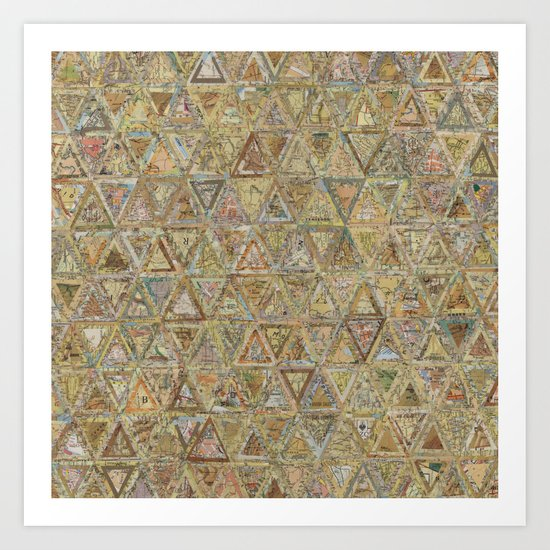 Brown Triangles Art Print