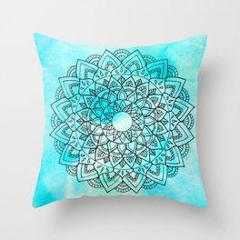 Sea Mandala Throw Pillow