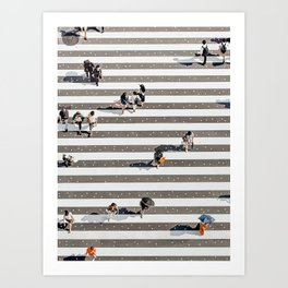 Rain Crossing Art Print