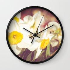 Daffodil flower Wall Clock