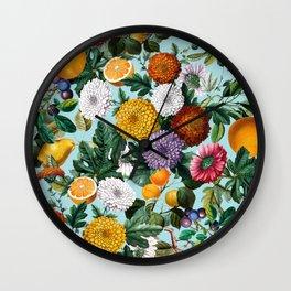 Summer Fruit Garden Wall Clock