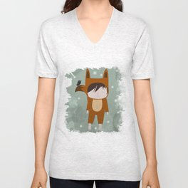 Foxie Boy Unisex V-Neck