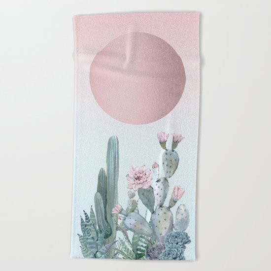 Desert Sunset by Nature Magick Beach Towel