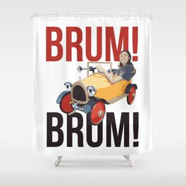 Brum Brum Shower Curtain