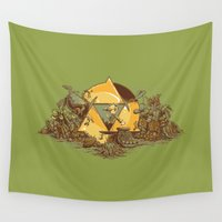hyrule Wall Tapestries featuring Keep Hyrule Green by TEEvsTEE