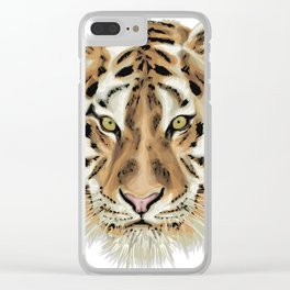 Stylized Tiger Portrait Clear iPhone Case