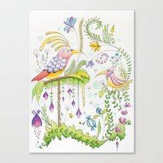 garden and birds Canvas Print