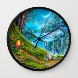 Day Moon Haven Wall Clock