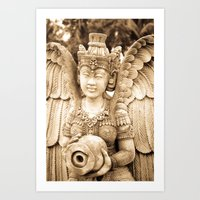 mythology Art Prints featuring Asian mythology by Bakal Evgeny