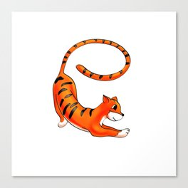e Is For . . . Tiger In The Animal Alphabet Canvas Print