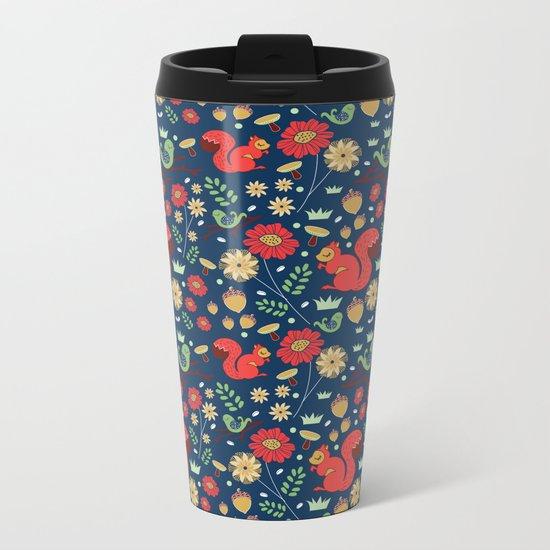 Let's go nuts! - Surface Pattern Design - ByBeck Metal Travel Mug