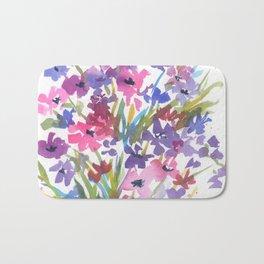 Lavender Mini Fleurs Bath Mat