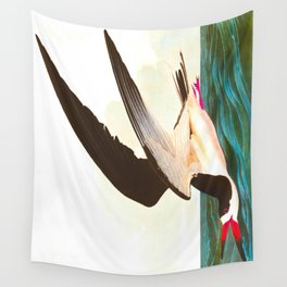 Black Skimmer or Shearwater Bird Wall Tapestry