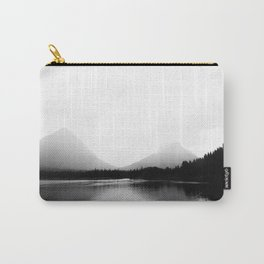 Mountains Landscape Photography   Lake   Black and White Photography   Montana Carry-All Pouch