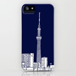 Tokyo Sky Tree by Night iPhone Case