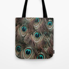 Peacock feathers abstract Tote Bag