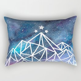 Watercolor galaxy Night Court - ACOTAR inspired Rectangular Pillow