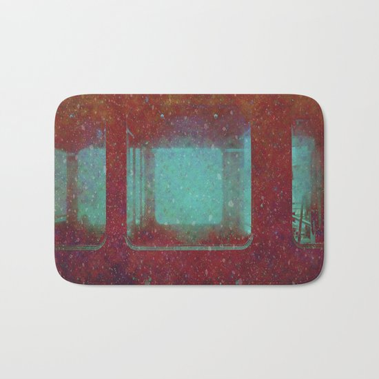 Into the City, Structure Windows Grunge Bath Mat