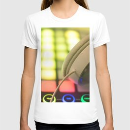 Headphones on a launchpad T-shirt