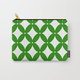 Abstract pattern - green and white. Carry-All Pouch