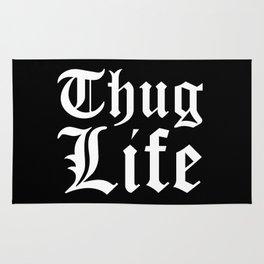 THUG LIFE (Black & White) Rug