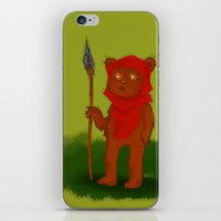 ewok iPhone & iPod Skins featuring Ewok by Delucienne Maekerr