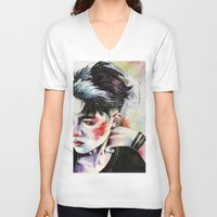 exo V-neck T-shirts featuring Kyungsoo by eteru