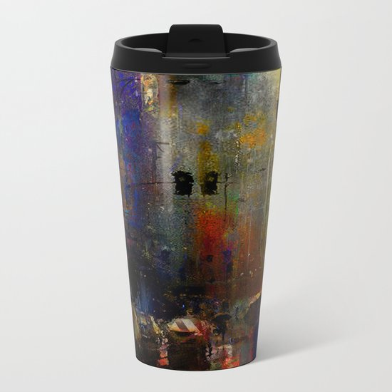 Rainy day Metal Travel Mug