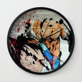 Tiger Knee Wall Clock