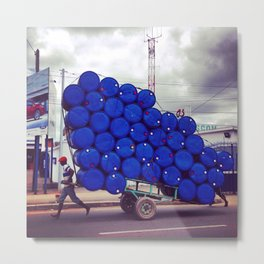 The Blue Drum Carrier Metal Print