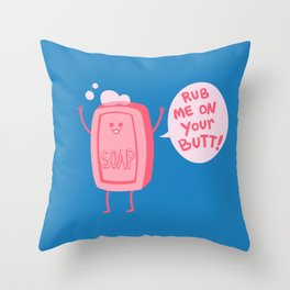 Lil' Soap Throw Pillow