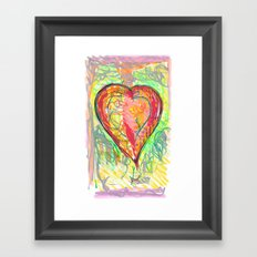 torn heart Framed Art Print