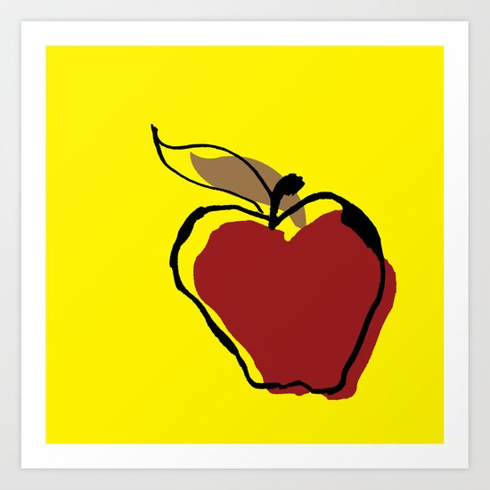 Apple for Teacher Art Print