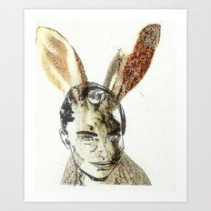 inner Jack rabbit Art Print